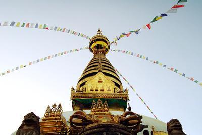 Buddhist Shrine Swayambhunath Stupa - Vintage Filter.-lora_sutyagina-Photographic Print