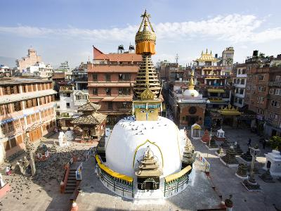 Buddhist Stupa in the Old Part of Kathmandu Near Durbar Square, Kathmandu, Nepal, Asia-Lee Frost-Photographic Print