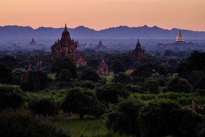 Buddhist Temples, Bagan (Pagan), Myanmar (Burma), Asia-Nathalie Cuvelier-Photographic Print