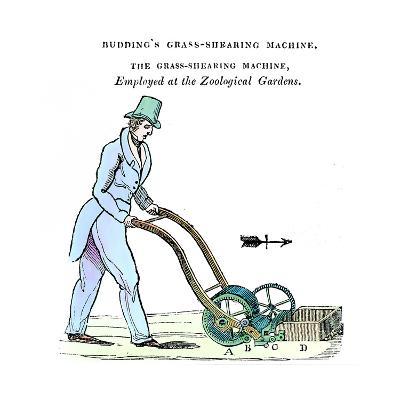 Budding's Grass-Shearing Machine, C1832--Giclee Print