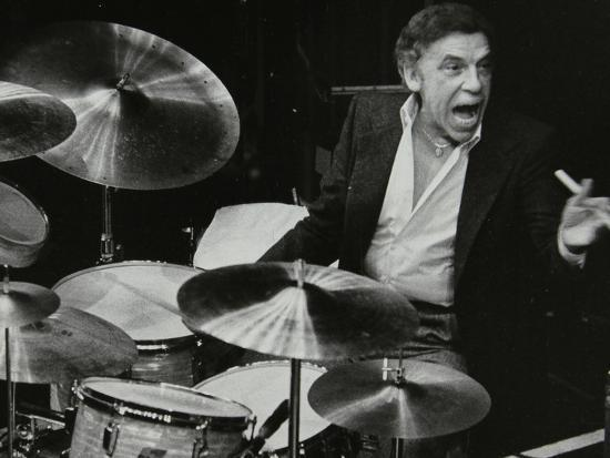 Buddy Rich in Concert at the Forum Theatre, Hatfield, Hertfordshire, March  1980 Photographic Print by Denis Williams | Art com