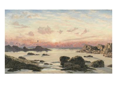 Bude Sands at Sunset, 1874-John Brett-Giclee Print