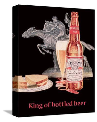 Budweiser Beer--Stretched Canvas Print