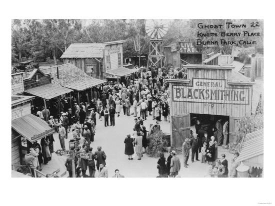 Buena Park, California Knotts Berry Place Ghost Town Photograph - Buena Park, CA-Lantern Press-Art Print