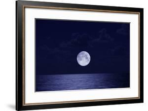 Full Moon over Ocean, Night by Buena Vista Images