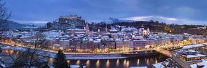 Old Salzburg at Dusk under Snow by Buena Vista Images
