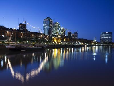 Buenos Aires, Puerto Madero, Highrise Buildings, Dusk, Argentina-Walter Bibikow-Photographic Print