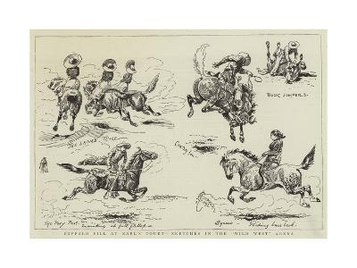 Buffalo Bill at Earl's Court, Sketches in the Wild West Arena-Alfred Chantrey Corbould-Giclee Print