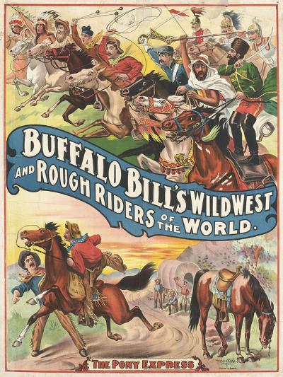 Buffalo Bill's wild west and rough riders--Giclee Print