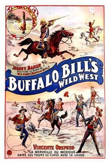 Buffalo Bill's Wild West, Johnny Baker and Vincente Orepezo--Giclee Print