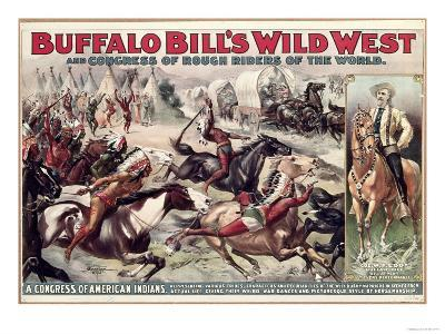 Buffalo Bill's Wild West (Poster)--Giclee Print
