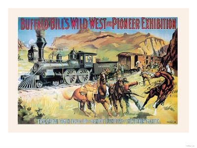 Buffalo Bill: The Great Train Hold Up--Art Print
