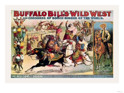 Buffalo Bill: The Real Sons of the Soudan--Art Print
