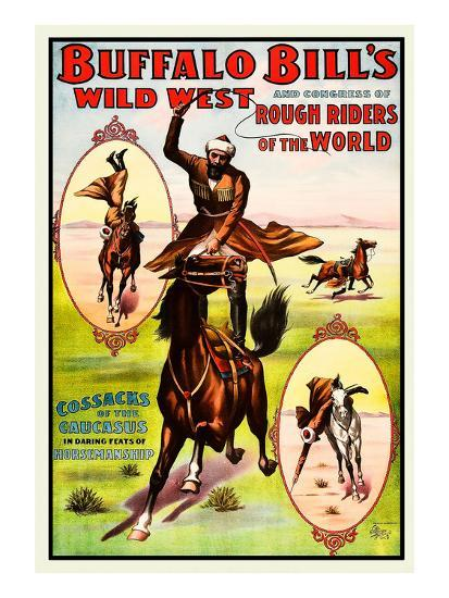 Buffalo Bills Wild West - Cossacks- Norman Studios-Art Print