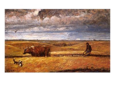 Buffalo Bones Plowed Under, 1930-Harvey Dunn-Giclee Print