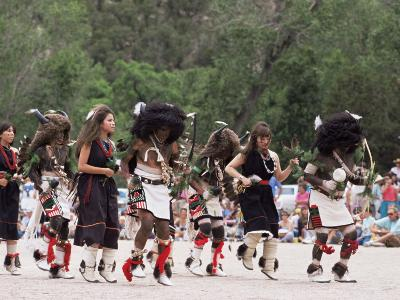 Buffalo Dance Performed by Indians from Laguna Pueblo on 4th July, Santa Fe, New Mexico, USA-Nedra Westwater-Photographic Print