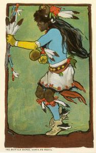 Buffalo Dance, Santa Fe Fiesta Illustration