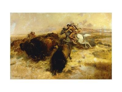 Buffalo Hunt-Charles Marion		 Russell-Giclee Print