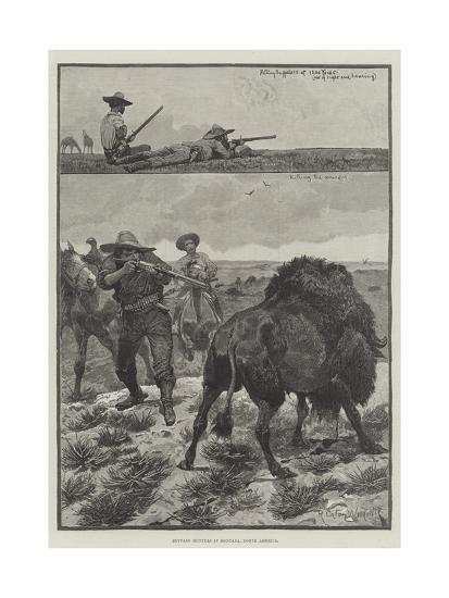 Buffalo Hunters in Montana, North America-Richard Caton Woodville II-Giclee Print