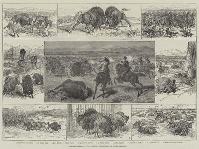 Buffalo-Hunting in the Western Territories of North America--Giclee Print