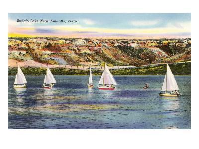 Buffalo Lake, Amarillo, Texas--Art Print
