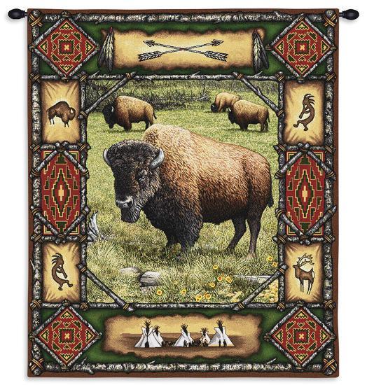 Buffalo Lodge--Wall Tapestry