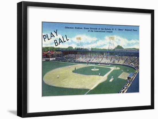 Buffalo, New York - Offermann Stadium View-Lantern Press-Framed Art Print