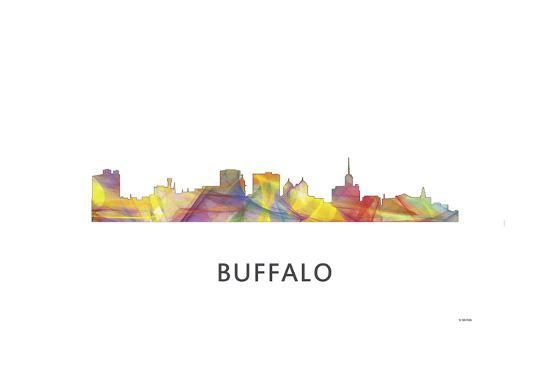 Buffalo New York Skyline-Marlene Watson-Giclee Print