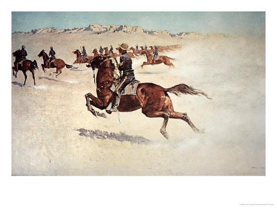 Buffalo Soldiers in Pursuit-Frederic Sackrider Remington-Giclee Print