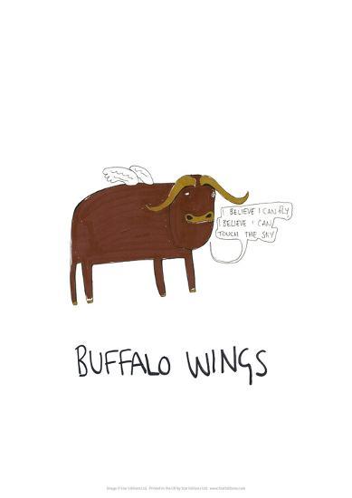 Buffalo Wings - Tom Cronin Doodles Cartoon Print-Tom Cronin-Giclee Print
