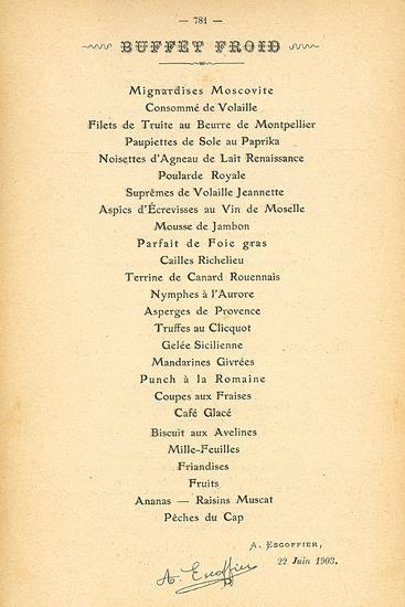 Buffet Froid-August Escoffier-Premium Giclee Print