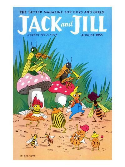 Bug Dance - Jack and Jill, August 1955-Wilmer Wickham-Giclee Print