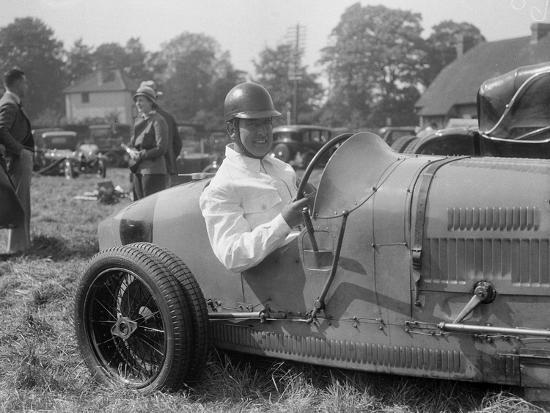 Bugatti Type 35, Bugatti Owners Club Hill Climb, Chalfont St Peter, Buckinghamshire, 1935-Bill Brunell-Photographic Print