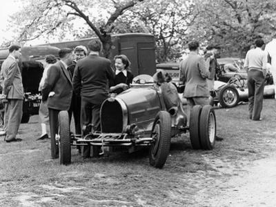 Bugatti Type 35B at Prescott, Gloucestershire, 1954