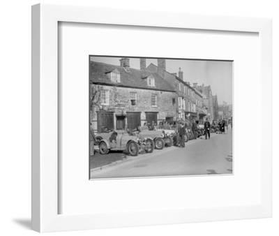 Bugattis at a Bugatti Owners Club meeting, Broadway, Worcestershire, 1937-Bill Brunell-Framed Photographic Print