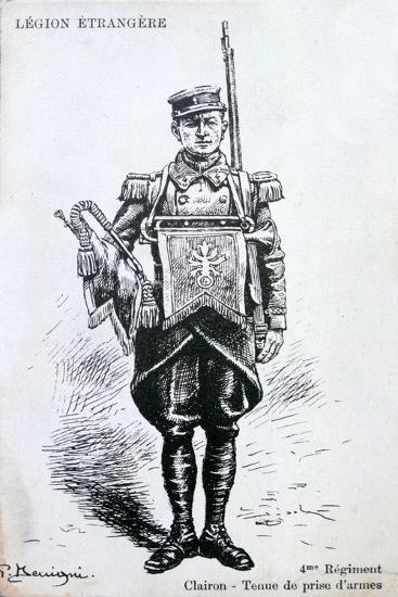 Bugler, 4th Regiment of the French Foreign Legion, 20th Century--Giclee Print