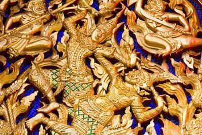 Classic Thai Art on a Temple