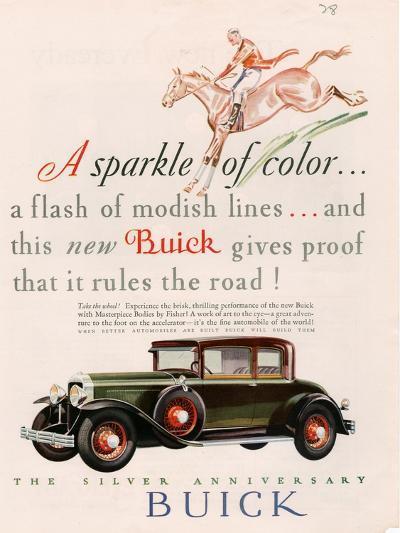 Buick, Magazine Advertisement, USA, 1928--Giclee Print