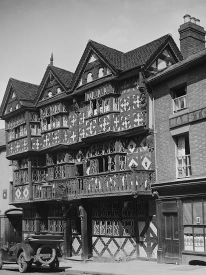 Buick outside the Feathers Hotel, Ludlow, Shropshire, c1930-Bill Brunell-Photographic Print