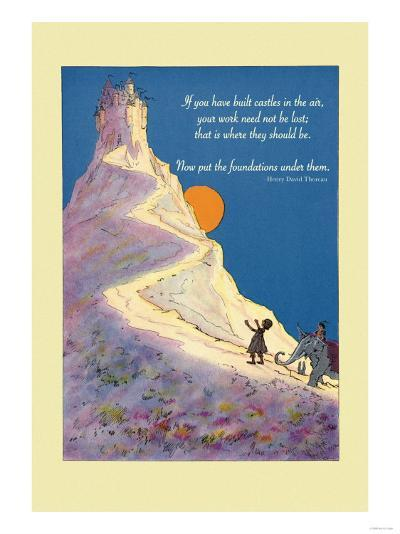Build Castles in the Air--Art Print