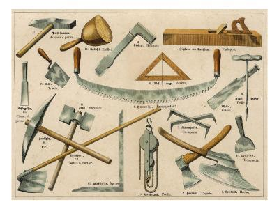 Builder's Tools 1875--Giclee Print
