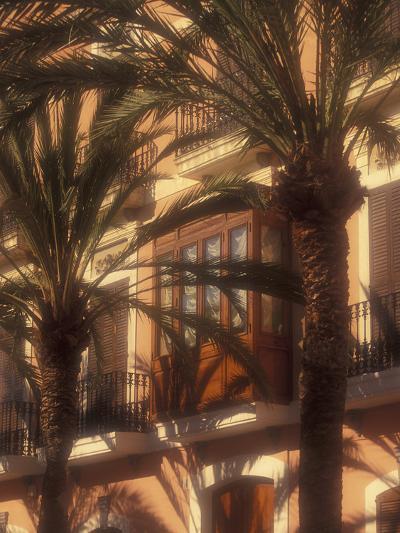 Building and Palms, Eivissa, Ibiza, Balearics, Spain-Walter Bibikow-Photographic Print
