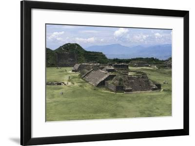 Building, Archaeological Site of Monte Alban--Framed Photographic Print
