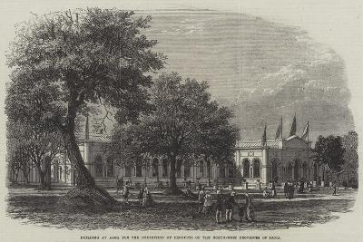 Building at Agra for the Exhibition of Products of the North-West Provinces of India--Giclee Print