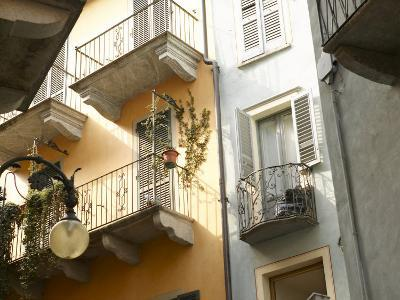 Building Balcony with Green Creeping Vines--Photographic Print