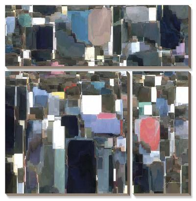Building Block Tile II-James Burghardt-Canvas Art Set