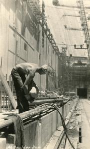 Building Boulder Dam, Nevada
