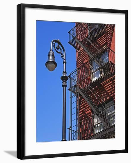 Building Fire Escape in Greenwich Village, Downtown Manhattan, New York City, New York, USA-Richard Cummins-Framed Photographic Print