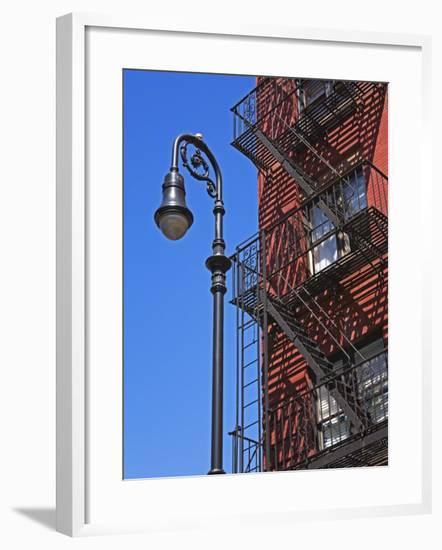 Building Fire Escape in Greenwich Village, Downtown Manhattan, New York City, New York, USA-Richard Cummins-Framed Photographic Print