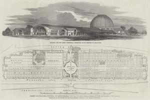 Building for the Great Industrial Exhibition, to Be Erected in Hyde-Park